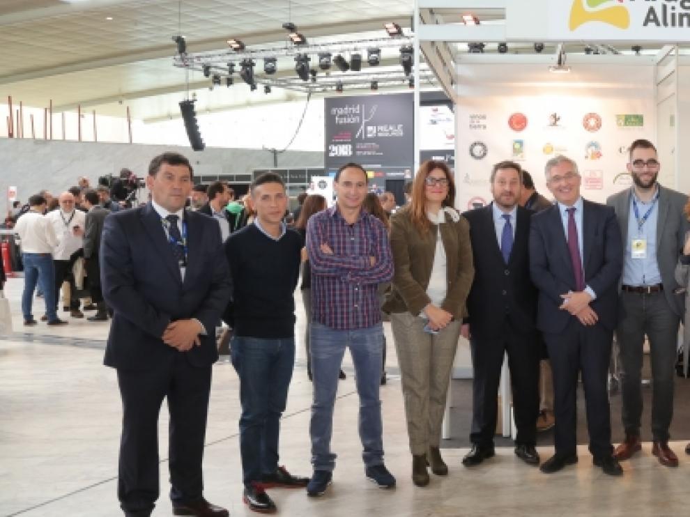 Joaquín Olona y José Luis Soro han visitado Madrid Fusión, donde Aragón Alimentos está presente desde el lunes