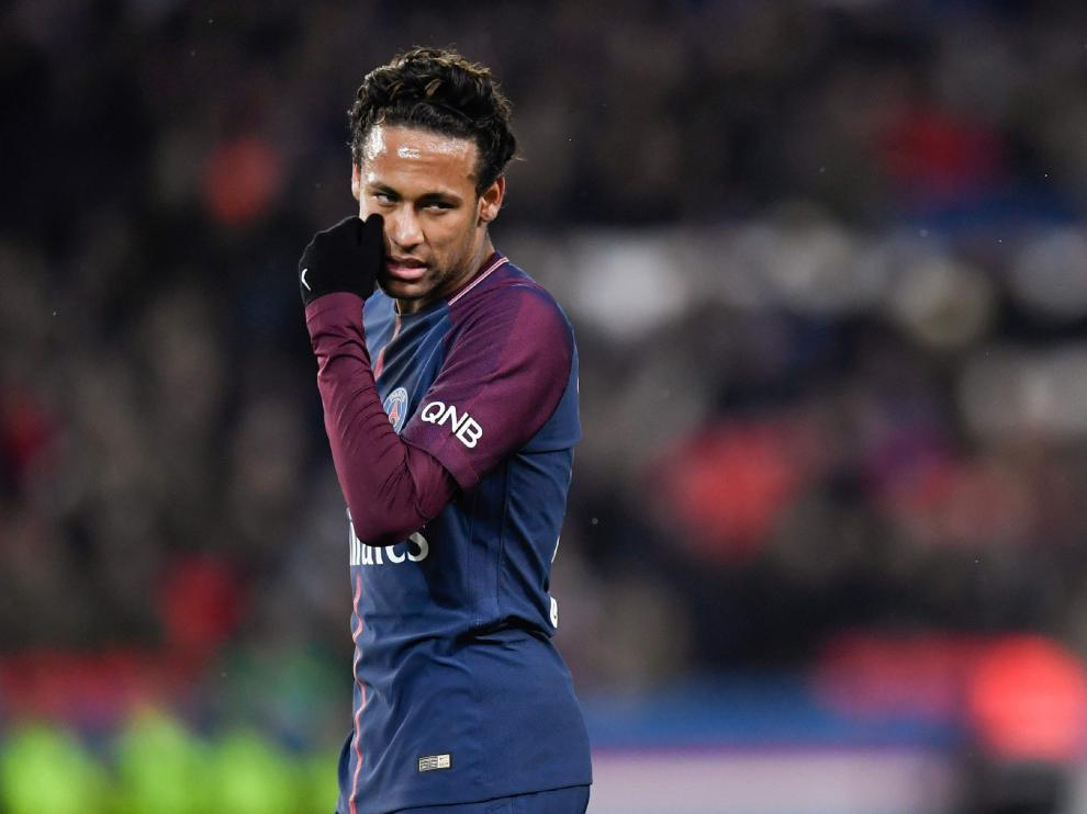 Neymar, delantero del PSG, en un partido de este curso.
