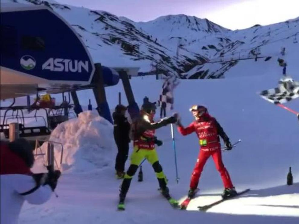 Luis Alberto Hernando bate el record del mundo en Astún