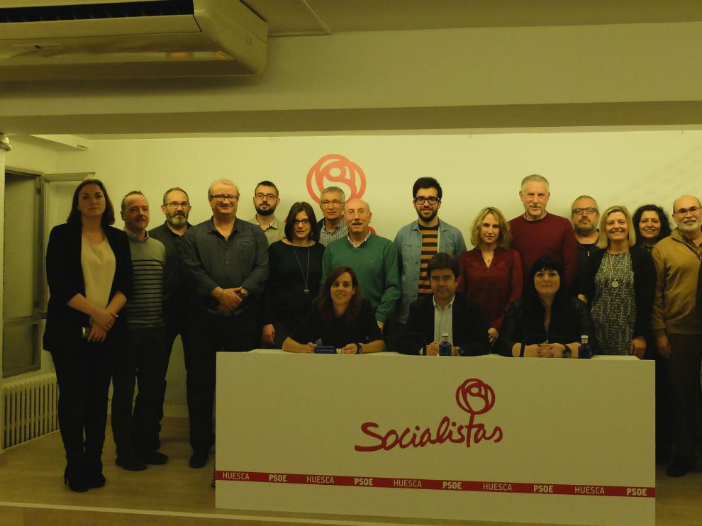 Integrantes del nuevo comité local del PSOE