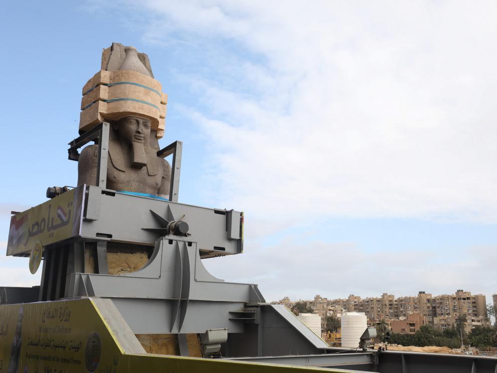 La estatua del faraón Ramsés II.