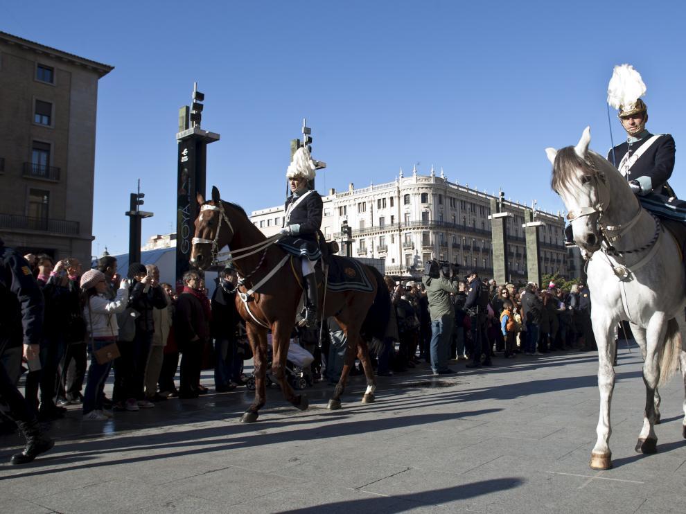 La unidad de Caballería participa tradicionalmente en los actos de San Valero
