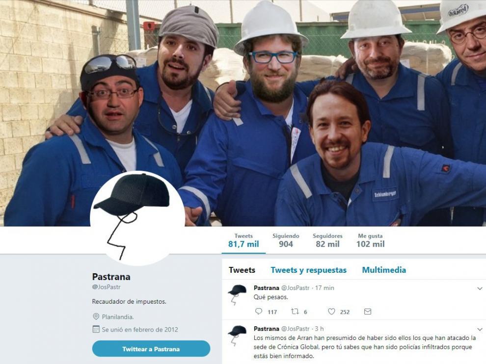 Imagen de la cuenta de Twitter de Pastrana.