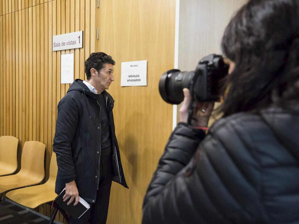 El acusado, José Ángel Niubo, el pasado 10 de enero, cuando se celebró el juicio en la Audiencia de Zaragoza.