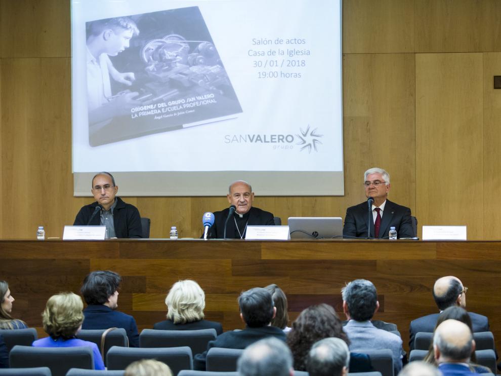 Presentación del libro 'Orígenes del Grupo San Valero', este martes, en la Casa de la Iglesia