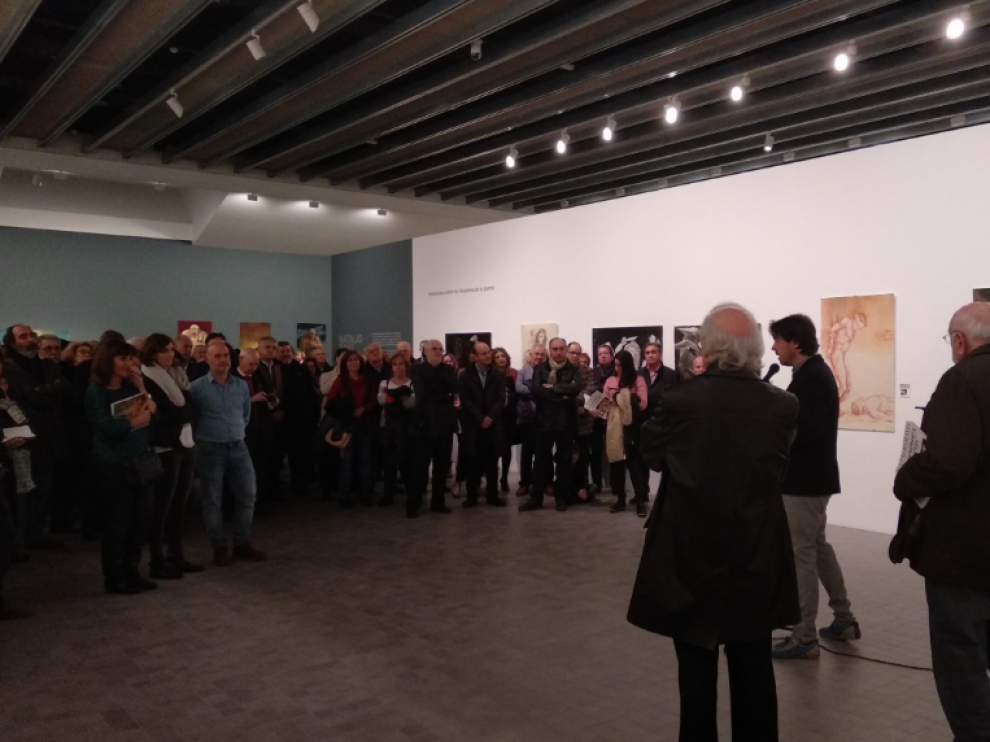 Inauguración de la exposición de Natalio Bayo en el IAACC.