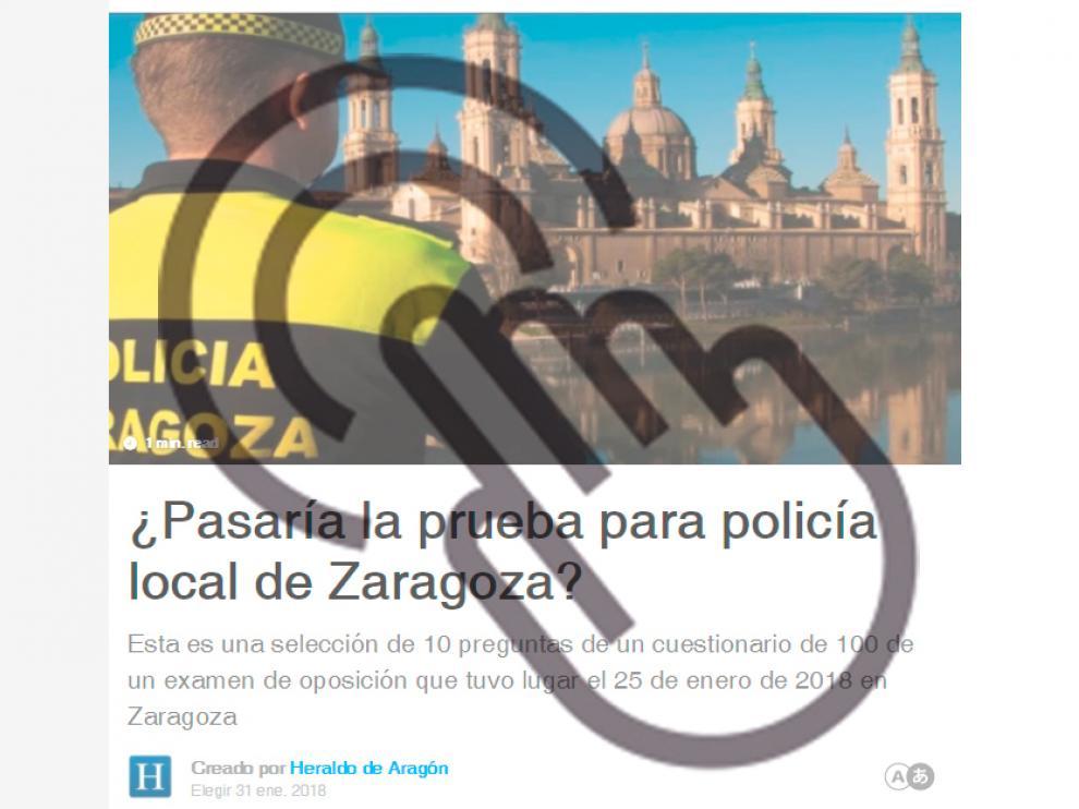 Test Policía Local de Zaragoza.