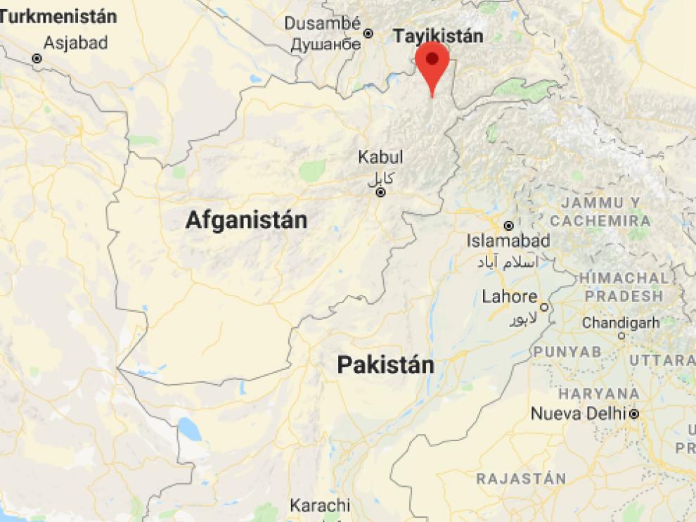 El epicentro del terremoto fue a 35 kilómetros de la ciudad de Jurm