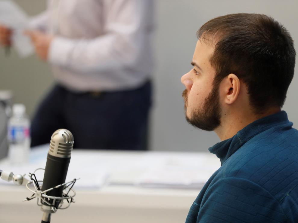 Pablo Hasel, el pasado día 1 en la Audiencia Nacional.
