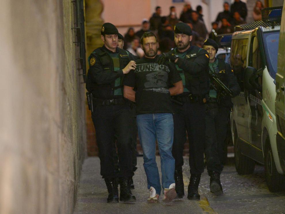 El exmilitar serbio Norbert Feher fue trasladado a los juzgados de Alcañiz tras su detención.