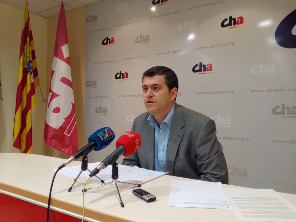 Joaquín Palacín, en una rueda de prensa.
