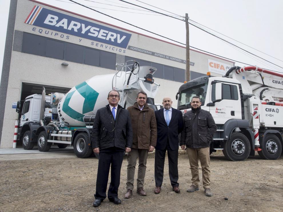Luis San Gil, Salvador Roldán, Marcos Andaluz y Alfredo Sacacia, cuatro de los cinco accionistas de Baryserv.