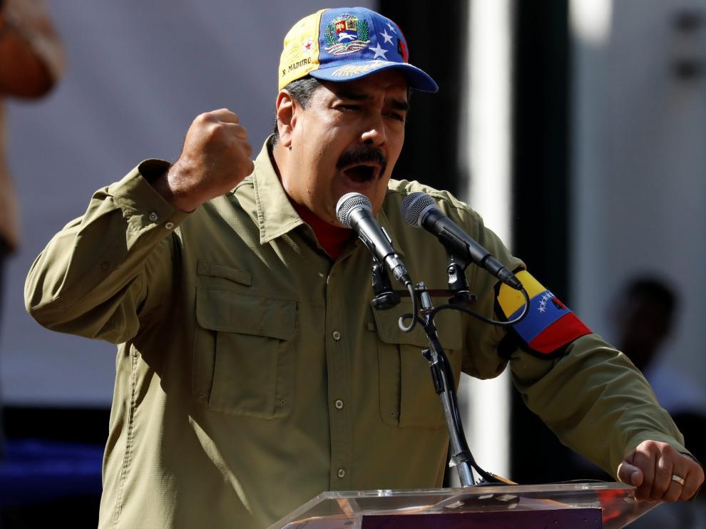 El presidente de Venezuela, Nicolás Maduro, este domingo.