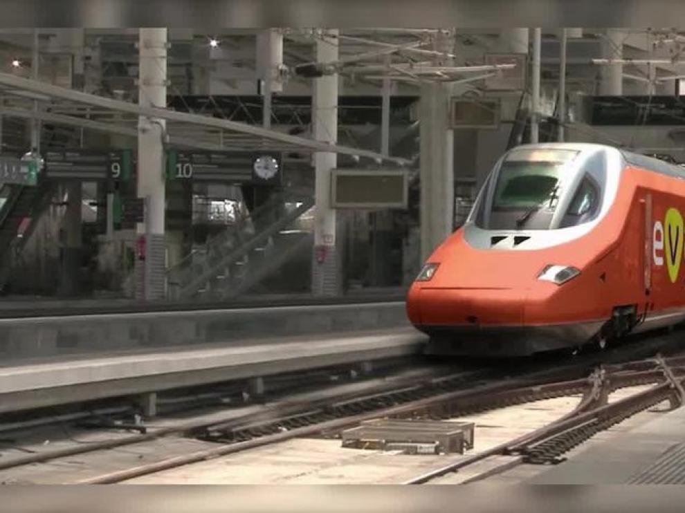 El nuevo tren de bajo coste, EVA, no pasará por Zaragoza mientras dure la experiencia piloto.