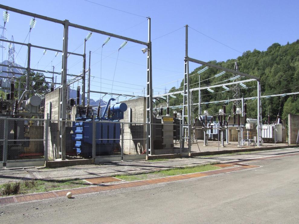 Instalaciones de la central hidroeléctrica de Pueyo de Jaca.
