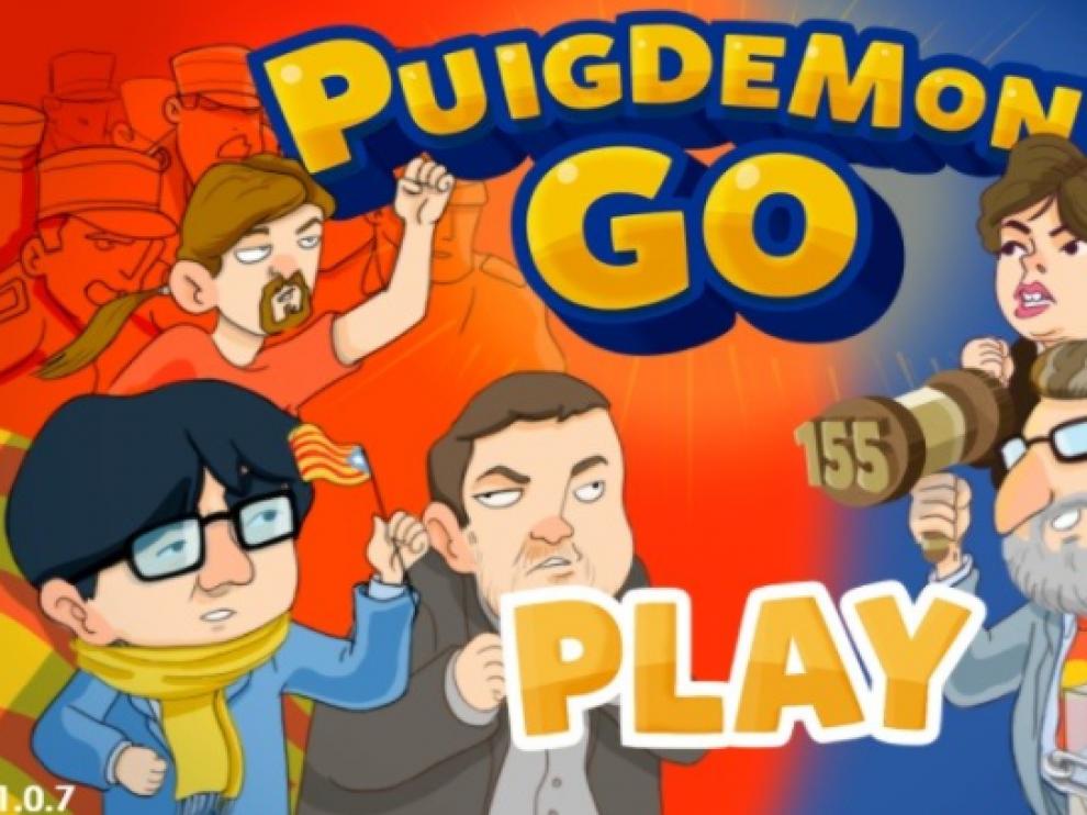 Juego 'Puigdemont Go'