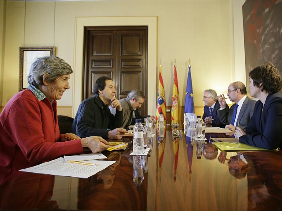 Reunión entre el Gobierno de Aragón y la RAPA, hoy en el Pignatelli