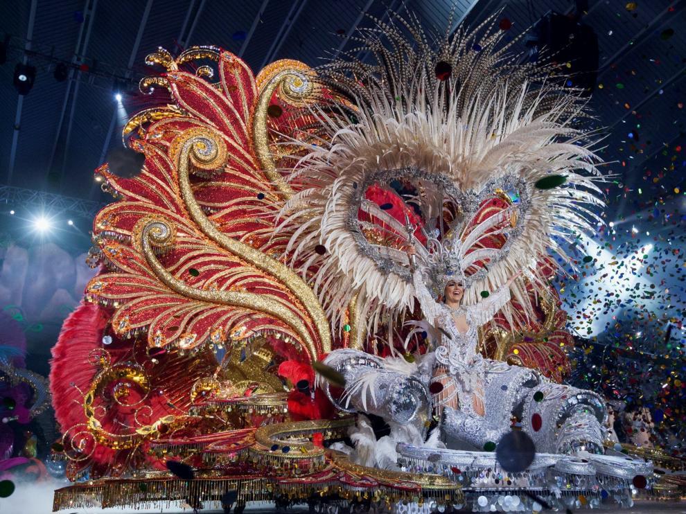 Carmen Laura Lourido, reina del carnaval de este año.