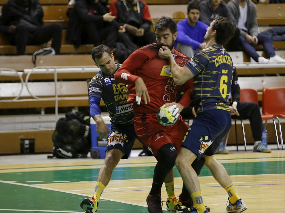 Carró durante el partido amistoso disputado en enero ante el Bidasoa Irún.