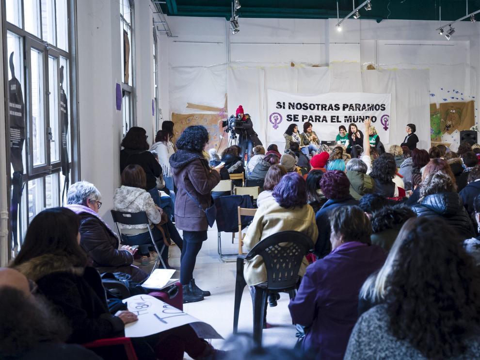 Un acto del pasado mes de enero en el edificio del antiguo instituto Luis Buñuel.