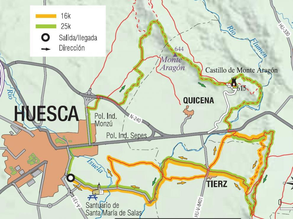 Croquis Trail Hoya de Huesca