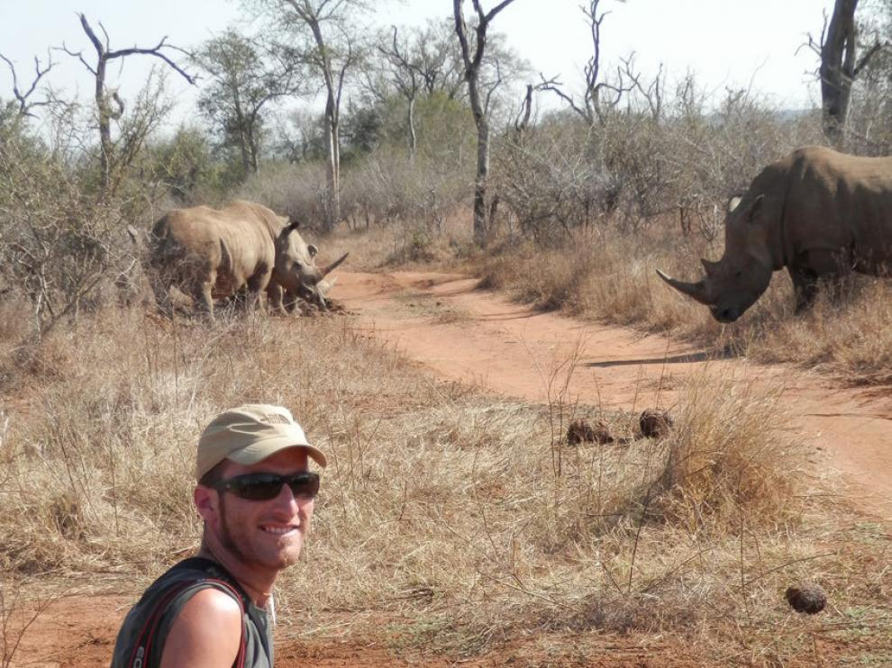 Ramiro Blancas ejerce de guía turístico en África.