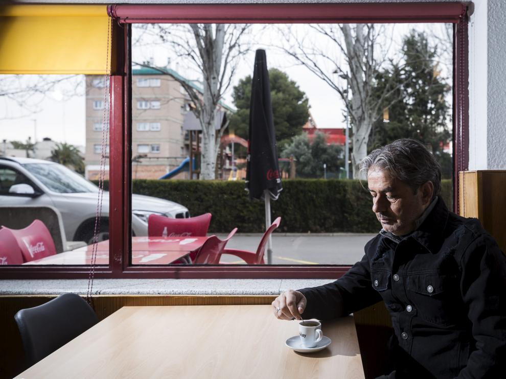 Natxo González, en la cafetería en la que se realizó la entrevista.