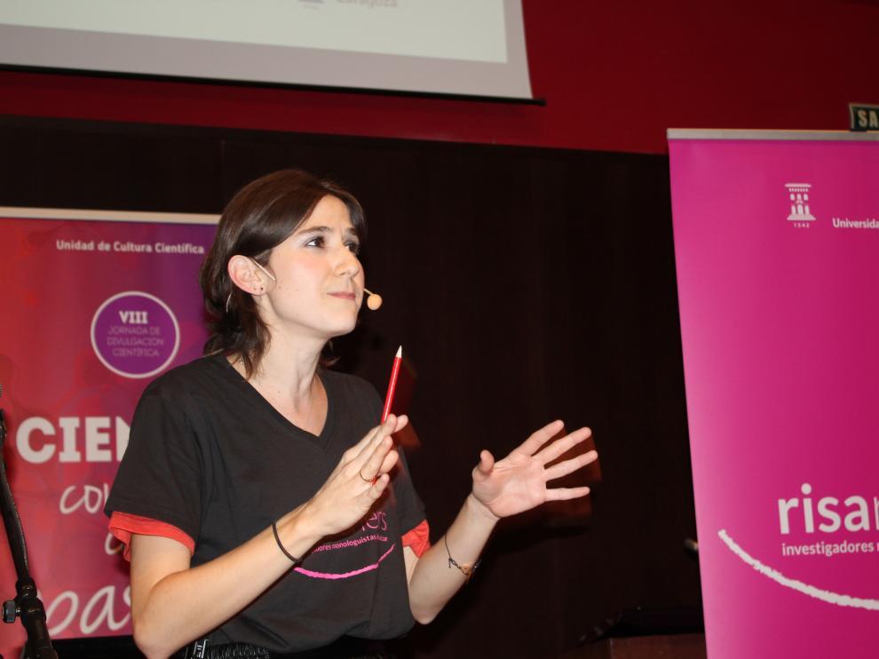 Isabel Iguacel durante uno de sus monólogos.