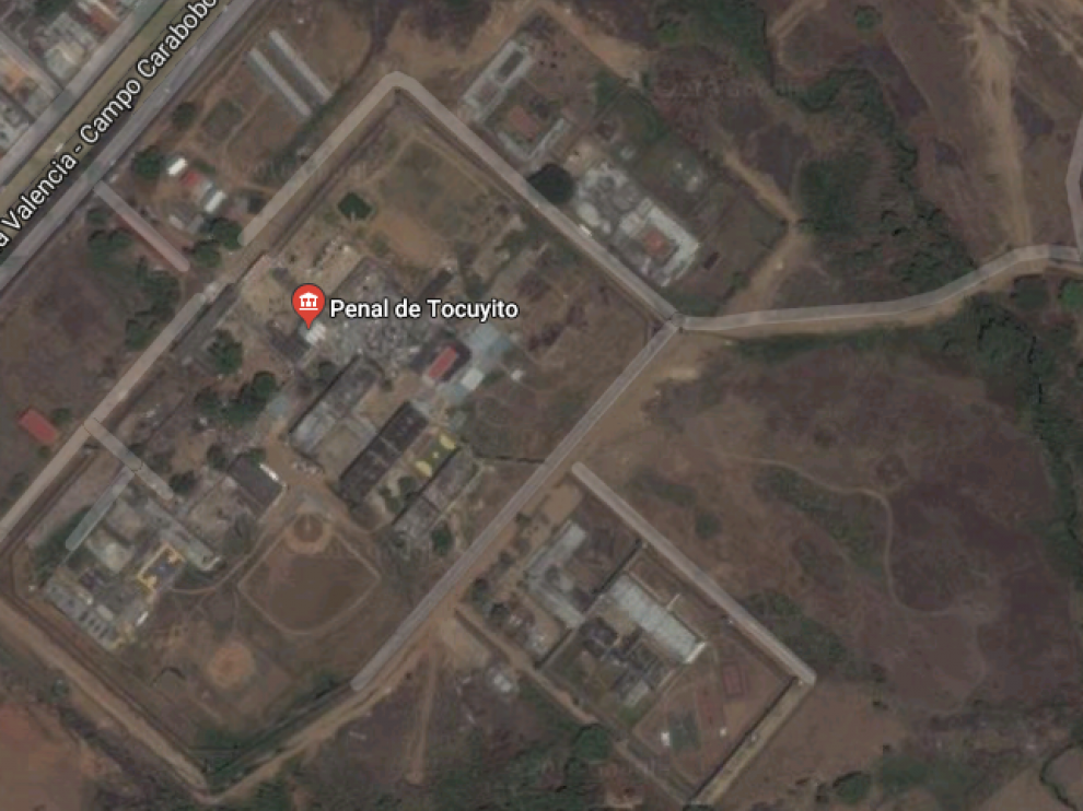 Vista aérea de la prisión de Tocuyito.