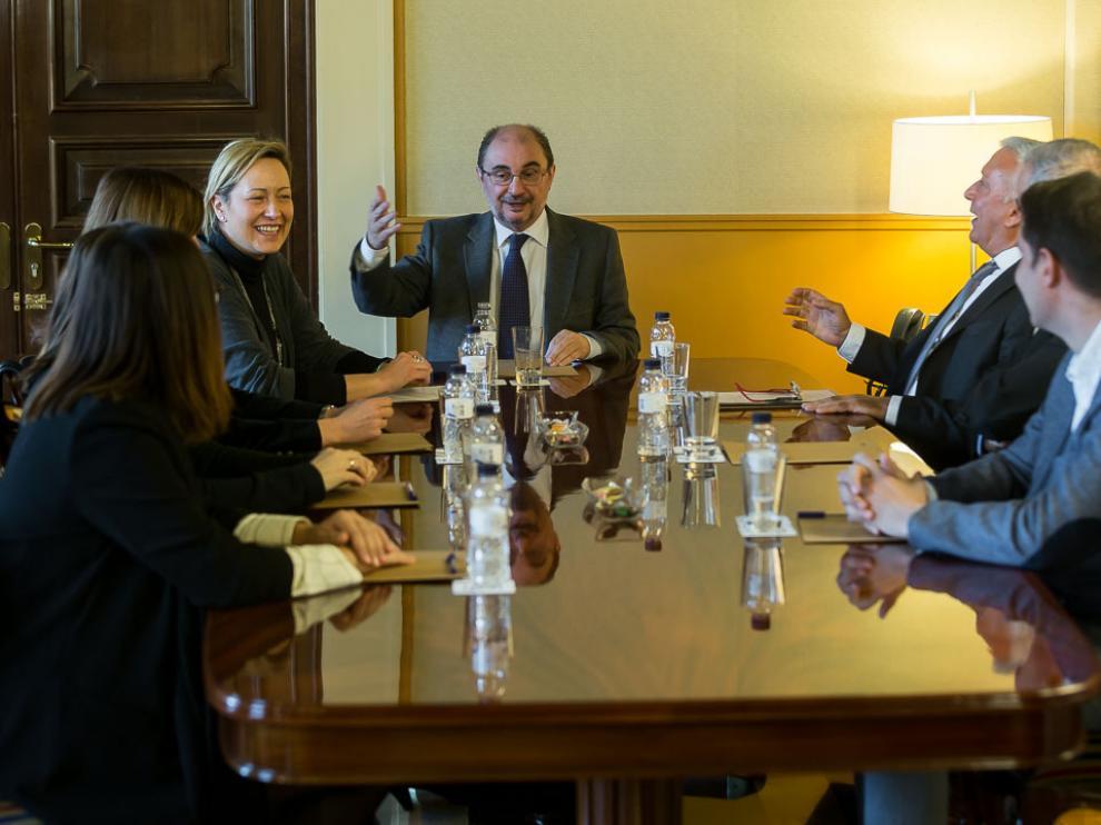 José Luis Ferruz Perez, máximo responsable del grupo Ferruz, se ha reunido hoy con el presidente del Gobierno aragonés, Javier Lambán