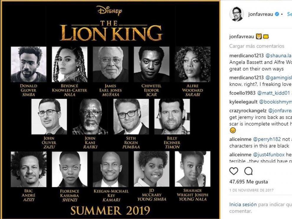 Según ha desvelado el director del film este será el reparto de la película.