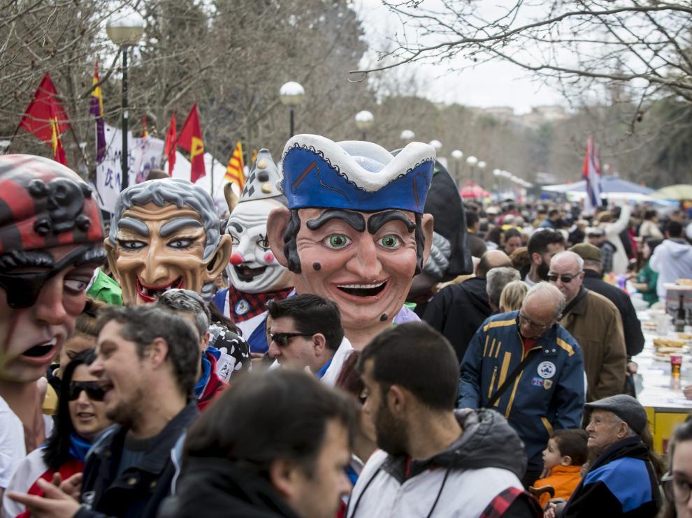 Celebración de la Cincomarzada en 2017.