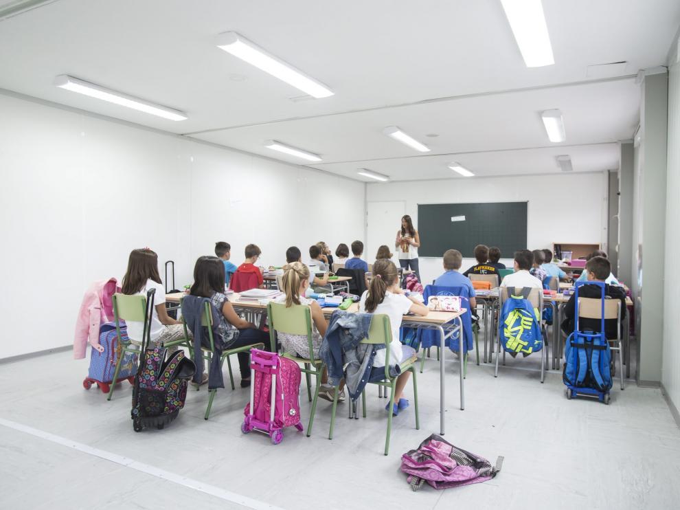 Imagen de archivo en una clase en el colegio Foro Romano de Cuarte de Huerva