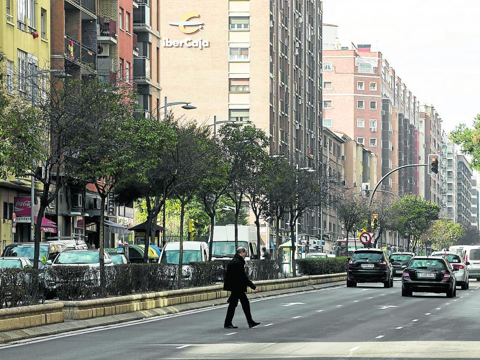 La avenida de Tenor Fleta, en una imagen de este viernes.