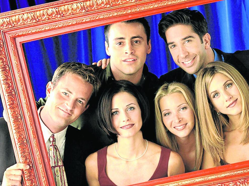 Matthew Perry, Matt Le Blanc, David Schwimmer, Courtney Cox, Lisa Kudrow y Jennifer Aniston: un elenco para enmarcar.