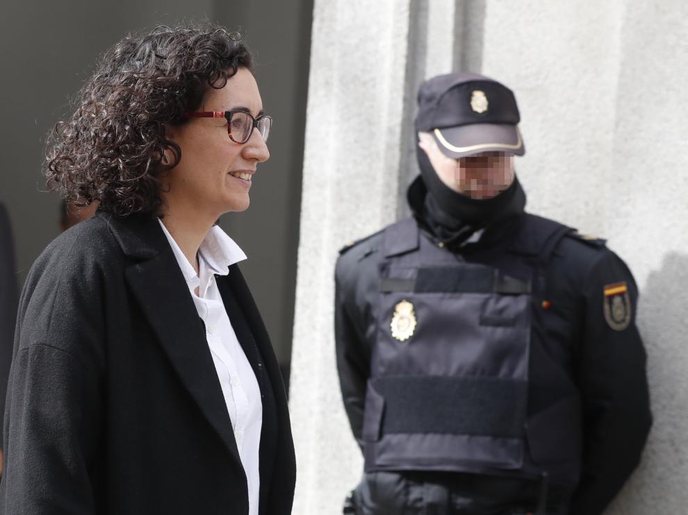 Marta Rovira a su salida del Tribunal Supremo en una foto de archivo