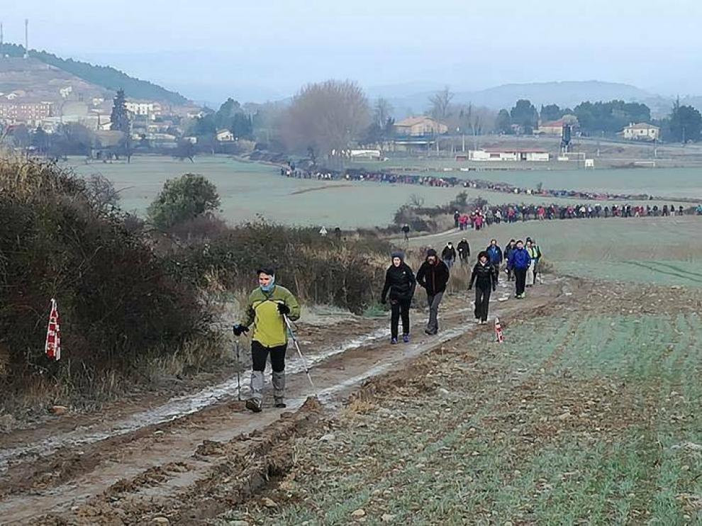 Imagen de la caminata celebrada el año pasado, que contó con 750 participantes