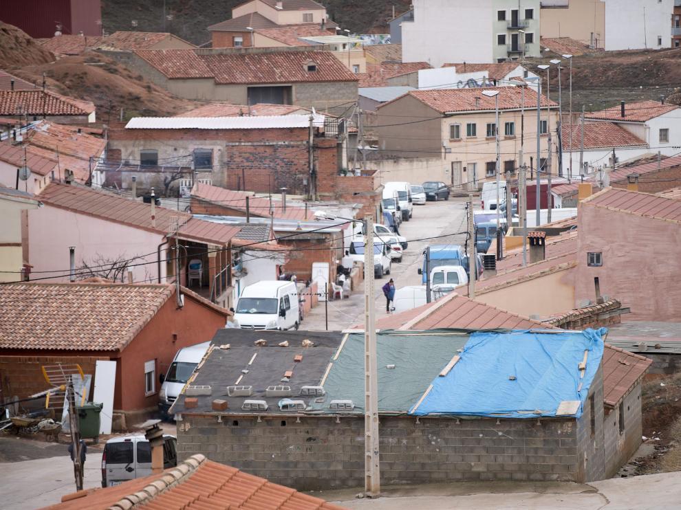 El barrio de Pomecia, en Teruel.
