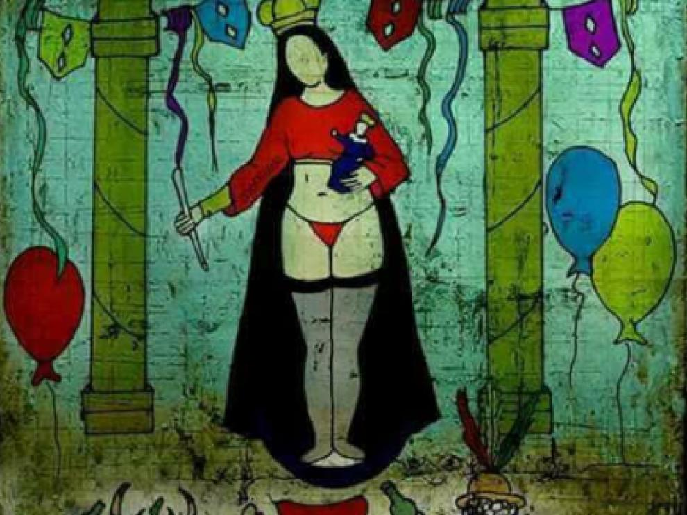 Representación de la virgen que ha desatado la polémica en Bolivia.