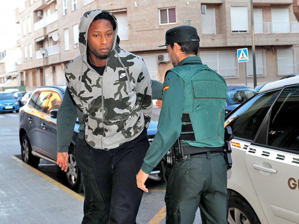 Rubén Semedo, este jueves en su llegada a los juzgados.