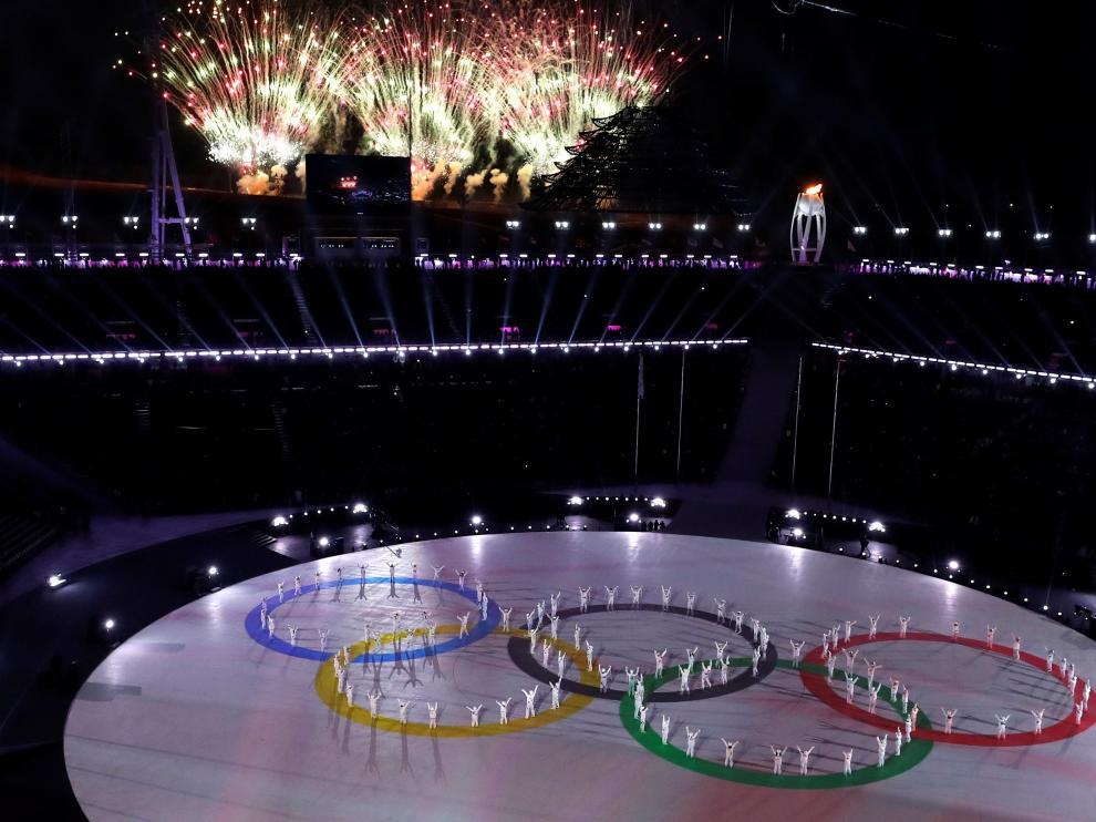 Ceremonia de clausura de los Juegos Olímpicos de Invierno