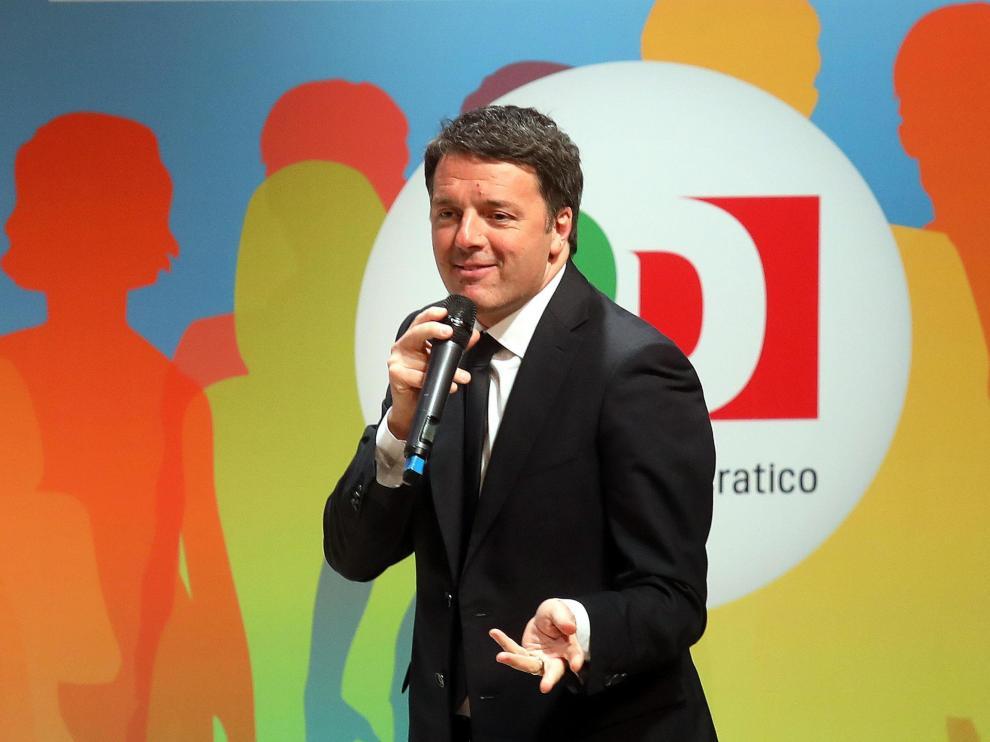 El líder del Partido Demócrata italiano, Matteo Renzi.