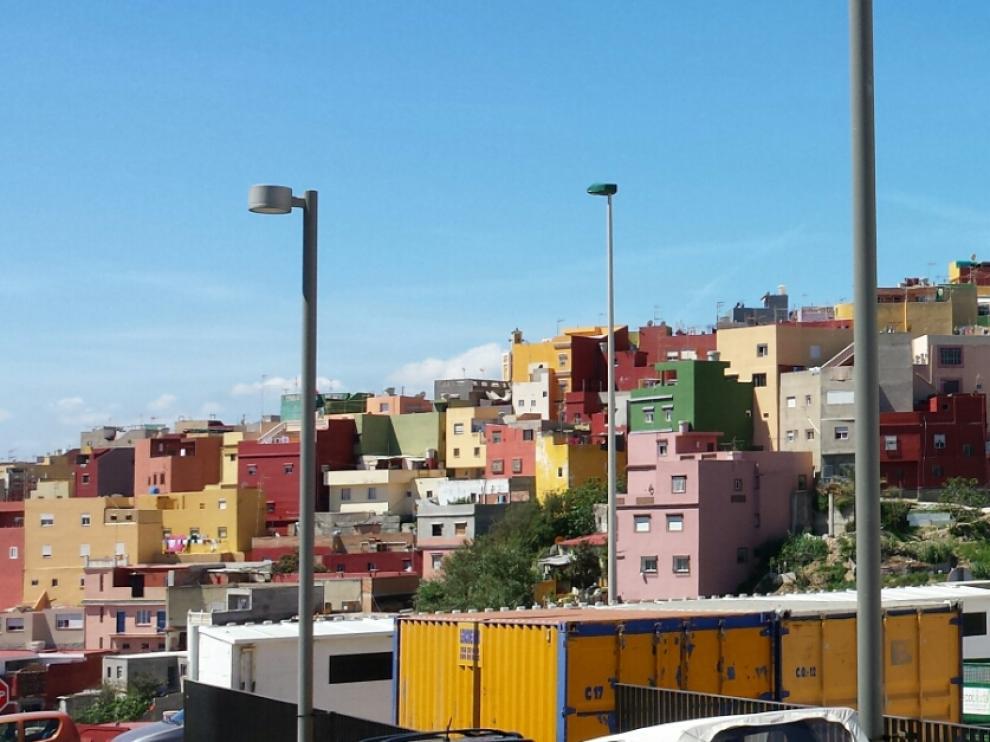 Barriada del Príncipe, Ceuta, en la que el menor fue disparado tras una fuerte discusión.