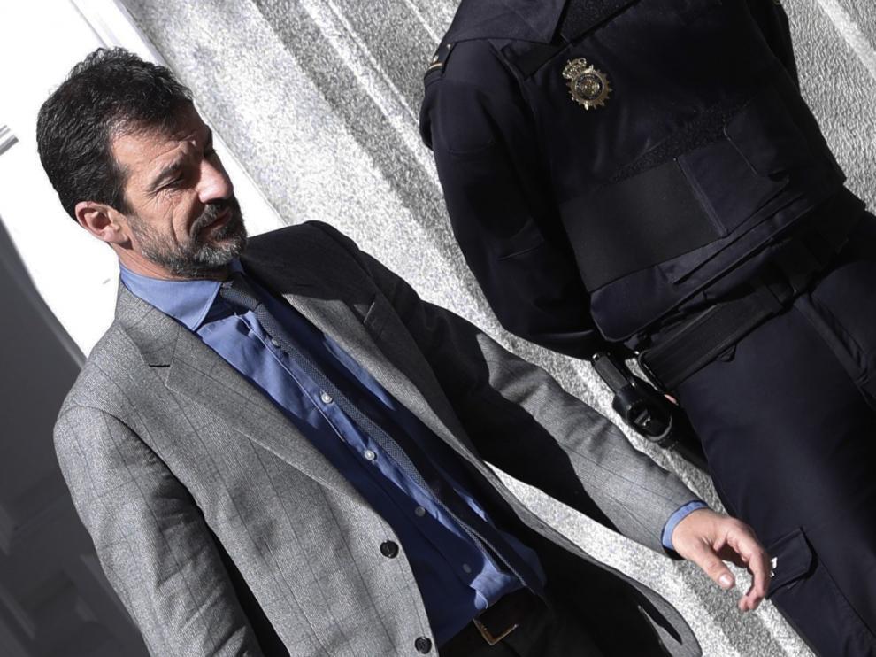 El jefe de los Mossos d'Esquadra, Ferrán López, a su salida del Supremo