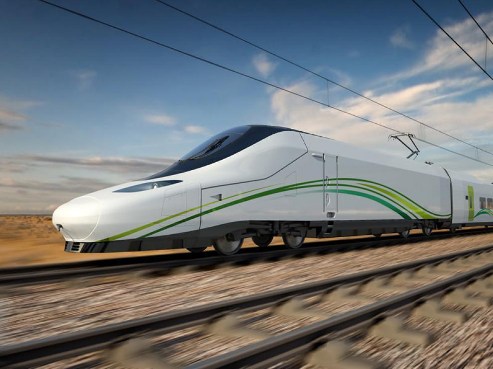 Talgo ha fabricado el tren de alta velocidad, modelo 350, que viajará por Arabia Saudí con ventanas de Ariño Duglass