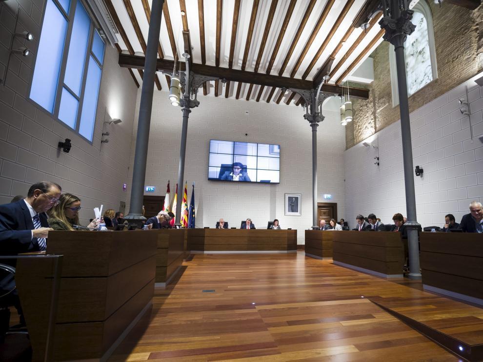 Pleno de la Diputación Provincial de Zaragoza en una imagen de archivo