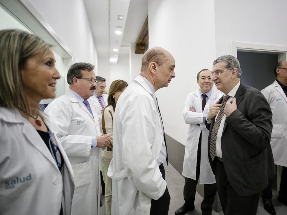 El consejero de Sanidad, Sebastián Celaya, ha participado en el balance de la unidad de cataratas del Provincial.