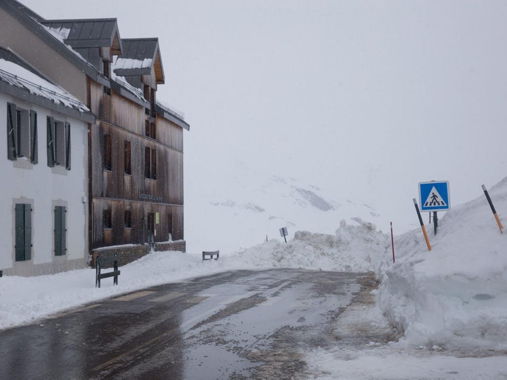 El Portalet nevado, en imagen de archivo.
