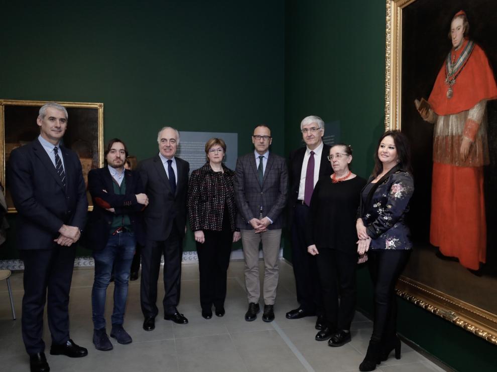 """Presentación de la exposición  """"Goya y la familia Borbón- Vallabriga"""", este jueves en el Museo Goya."""
