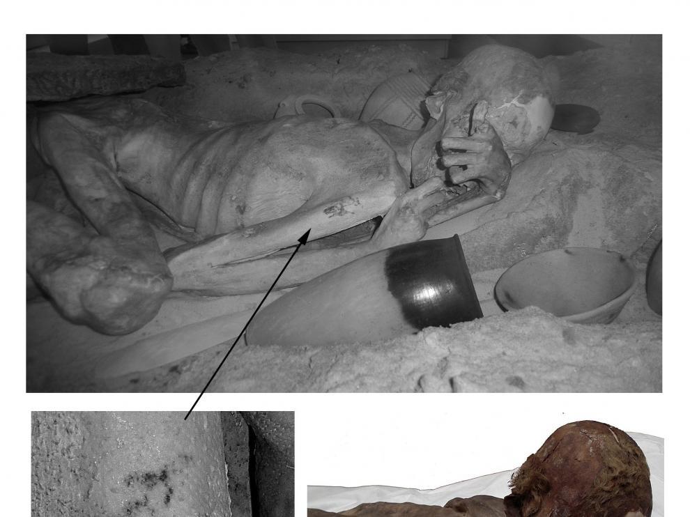 Una de las momias estudiadas por el British Museum